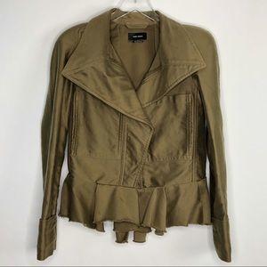 ISABEL MARANT Blazer Jacket Shoulder Pads Green